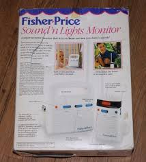 fisher price lights and sounds monitor vintage fisher price sound n lights baby monitor high low range