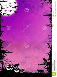 halloween night purple vertical background with trees bats cats