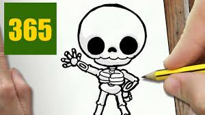 how to draw a skeleton cute easy step by step drawing lessons for