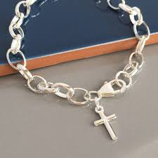 silver cross bracelet charm images Charm bracelets womens charm bracelets jpg
