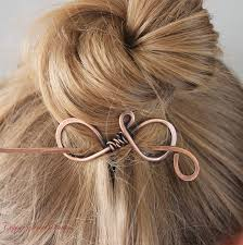 hair accessories for hair plain copper hair stick metal hair clip hair pin hair