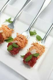 spaghetti and meatballs mini party food pinterest food