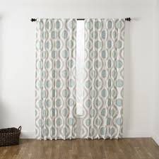 108 In Blackout Curtains by Featuring A Seafoam Geometric Pattern Throughout This Window