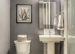 Modern Powder Room - 7 tile powder room ideas modern powder room with majestic mirror