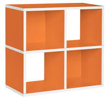 Cube Bookcase Way Basics Quad 4 Cubby 12 X 26 4 X 24 8 Zboard Stackable Bookcase