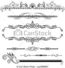 horizontal ornamental set of horizontal ornamental design