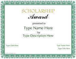 templates for scholarship awards 4 best images of scholarship award certificate template printable