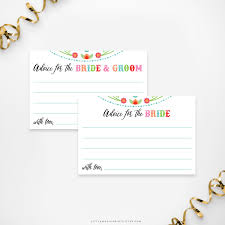 bridal advice cards printable bridal shower advice cards magic prints