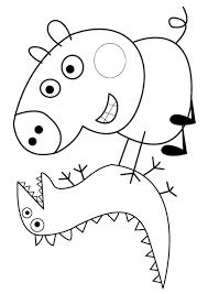 peppa pig coloring pages george dinosaur coloringstar