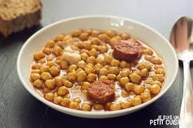 comment cuisiner des pois chiches recette de pois chiches au chorizo cuisine espagnole