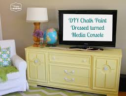 lightening up the living room with a diy chalk paint dresser