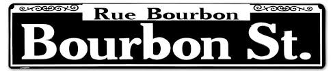 bourbon sign rue bourbon tin sign 24 x 5in yard signs garden