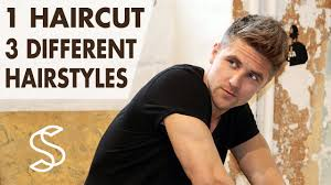 3 hairstyles in 1 haircut men u0027s short hair professional hair