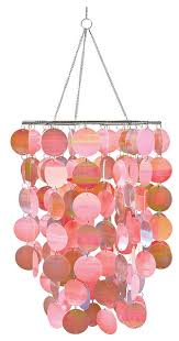 pearl pink chandelier contemporary kids ceiling lighting by
