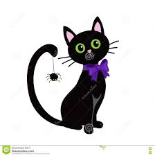 halloween vector background cute black cat isolated on white background halloween stock