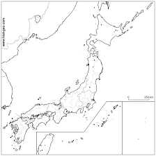 Blank Europe Map Pdf by Blank Administrative Map Of Japan With Japanese Regions And