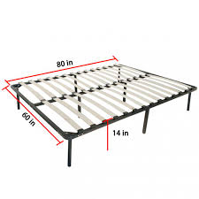 Platform Metal Bed Frame Mattress Foundation Factory Direct Wholesale Rakuten Wooden Slat Metal Bed Frame