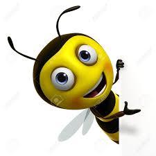 honey bee cartoon in fly