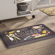 Kitchen Floor Mats Barrel Studio Gothard Scattered Kitchen Dri Pro Comfort