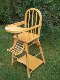 chaise haute en bois b b chaise haute bébé la déco de gégé