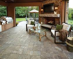 Insideout Patio Inside Out Outdoor Kitchen And Living Room Rustic Sunroom