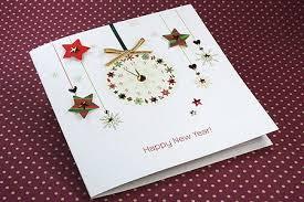 new year photo card ideas handmade new year card new year clock card ideas