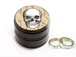wedding ring in a box buy a handmade skull wedding ring box skull pill and or powder