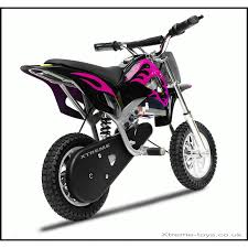electric motocross bikes nitro 350w dirt bike in black pink xtreme toys