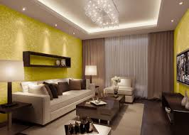 decorations the open space living room concept wallpaper living decorations wallpaper living room with yellow style and television also flying cabinet chandelier sofas brown