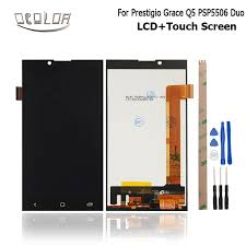 Lcd Q5 ocolor for prestigio grace q5 psp5506 duo lcd display and touch