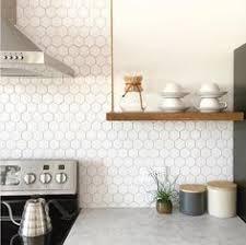white tile backsplash kitchen white hex backsplash by smith of annabode co scheduled