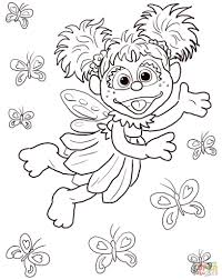 printable sesame street sign for kids coloring pages cartoon