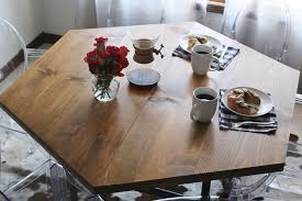 Diy Industrial Dining Room Table Diy Honeycomb Table With Industrial Pipe Legs U2013 A Beautiful Mess