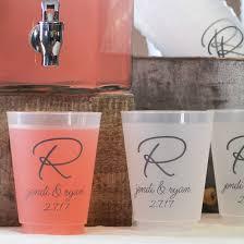 my wedding reception ideas plastic wedding cups personalized my wedding reception ideas