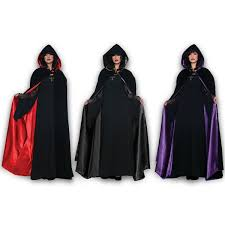 Cape Halloween Costume Underwraps Black Velvet Hooded Cape Renaissance Halloween