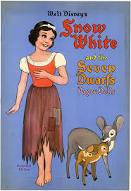 filmic light snow white archive 1938 snow white paper doll book