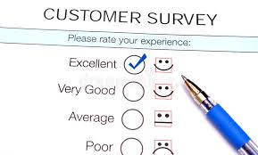 tick in excellent checkbox on customer service satisfaction survey