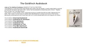 the goldfinch audiobook free for