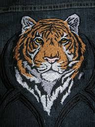 tribal tiger embroidery design 4 sizes 8 formats embrostitch