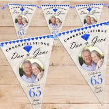 65 wedding anniversary personalised sapphire 65th wedding anniversary celebration photo