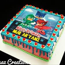 pj mask birthday cake food u0026 drinks baked goods carousell