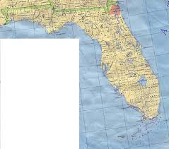 Florida Rivers Map by