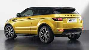 range rover evoque rear range rover evoque now dressed in sicilian yellow