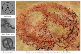 Grand Canyon Maps Rendered Terrain Of Grand Canyon Map Grand Canyon U2022 Mappery