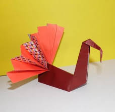 origami turkey origami inspiration