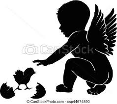 baby with wings easter eps vectors search clip