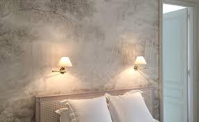 chambre papier peint papier peint contemporain chambre 3 peints panoramiques pour la