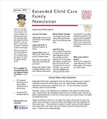 10 family newsletter templates free sample example format
