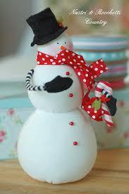 Handmade Fabric Crafts - handmade fabric snowman natal snowman fabrics and