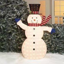 time decor 56 fluffy snowman sculpture ebay